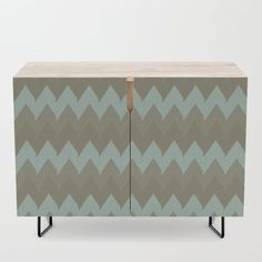 Summer Sand Credenza by vanid Patterned Furniture, Office Cabinets, Bar Carts, Walnut Finish, Tv Stands, Birch, Mid-century Modern, Shelf, Vibrant