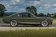Ringbrothers' 1965 Mustang Fastback dubbed 'Espionage' on myCARiD Widebody Mustang, 1965 Mustang, Ford Mustang Fastback, Mustang Cars, Ford Mustangs, Shelby Gt500, Supercars, Gone In 60 Seconds, Vintage Mustang