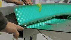 Skin made of RGB LEDs.  Gourdon lighting designer