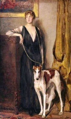 Countess Kitty von Rothschild. The painting by artist John Quincy Adams.