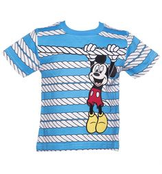 Kids Disney Mickey Mouse Rope T-Shirt Moda Inverno 0d456bf37c3