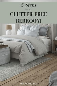 Ready to transform your bedroom into a clutter free haven? These tips for decluttering your bedroom will have you well on your way to a clutter free bedroom, fast. Plus there are ideas to keep your bedroom neat and organized! - My Home Decor Declutter Bedroom, Clean Bedroom, Declutter Your Life, Bedroom Cleaning, Organized Bedroom, Organised Home, Gray Bedroom, Bedroom Bed, Trendy Bedroom