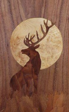 Saatchi Art: Moon - marquetry work
