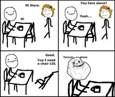 forever alone pic - troll face comics