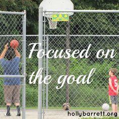 Focused on the goal www.hollybarrett.org #SundayReflection #ReclaimingaRedeemedLife #GiveMeGrace #TheWeekendBrew