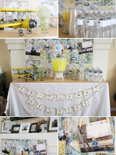 Declan's Time Flies Vintage Airplane 1st Birthday Party | Keepin it Boy
