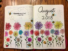 I am new to bullet journaling and am not the most creative person artistically. After much practice, I came up my very first monthly cover page. I love it!