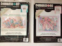 Dimensions IronOn Fashion Transfers  by KoopsKountryKalico on Etsy, $7.99