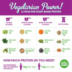 Natural plant based diet: 12 picks for plant based protein; how much protein do you need? Vegetarian Protein Sources, Protein Rich Foods, Vegan Protein, Vegetarian Recipes, Healthy Foods, Healthy Habits, Healthy Recipes, Diabetic Foods, Vegetarian Dinners