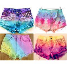 Customizando shorts ❤ liked on Polyvore