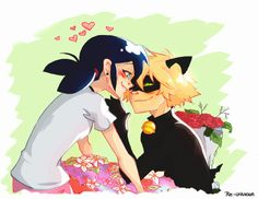 """re-unknown: """"""""Flowers for the purrincess"""" Finally! my favourite ship Hope you…"""