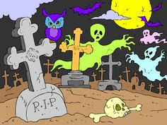 Don't you love Halloween!  I do.  Here's one of the cool coloring pages you can color on ColoringPages4U.com