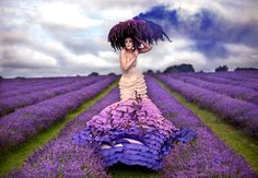 "Wonderland: ""The Lavender Princess"" - Kirsty Mitchell Photography. A 3 year project born from the grief of her mother's death and turned into amazing costumes, props and images."