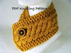 Felted Treasures: Sunday Morning Knit Wit ~ Triple Cable Neckwarmer