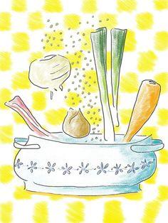 illustration by Sanne Boswinkel pea soup, snert, erwtensoep  www.sannekookt.nl