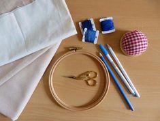 Escuela de bordado: Herramientas y materiales para bordar a mano / Embroidery School: Tools and materials for hand embroidery