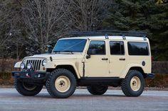 De Jeep Wrangler Africa Moab Easter concept is de ultime Jeep Wrangler voor expedities naar het verre achterland en bijvoorbeeld woestijnexpedities.