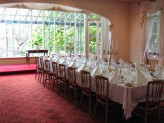 Trestle table reception setup