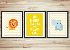 Keep Calm And Play On  Poster Set   INSTANT by LiamsCorner on Etsy, $9.50