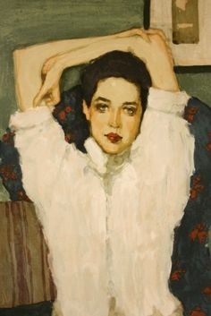 Brunette Girl – Girl In White Blouse (1953) - Malcolm T. Liepke