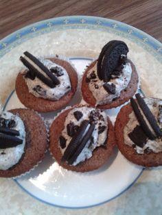 Oreo cupcakes  https://bloggerox101blog.wordpress.com/2015/11/17/oreo-cupcakes/