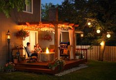 Patio with pergola, this is going outside my master