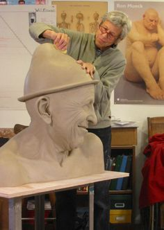"""Tip Toland, working on """"Surely"""" (from the 2011 Jester series)"""