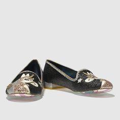 b5d1dd9c2c58e irregular choice black   silver loosen the reins flat shoes Soldes Ete
