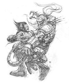 Wolverine vs Omega Red by keucha on DeviantArt
