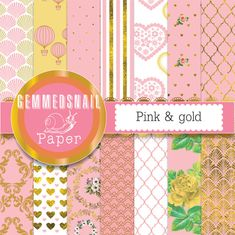 Hey, I found this really awesome Etsy listing at https://www.etsy.com/listing/175831550/pink-and-gold-digital-paper-gold-and