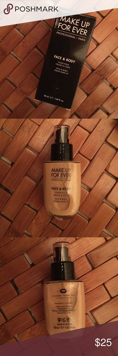 MUFE Makeup Forever Face and Body Foundation New in box. Shade is 20. No trades. Makeup Forever Makeup Foundation