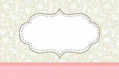 marco rosa y gris Floral Vintage - Free Printable Cards, Printable Labels, Printables, Printable Vintage, Molduras Vintage, Label Image, Diy And Crafts, Paper Crafts, Floral Vintage