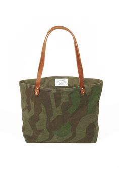 WWII era Camo Tote Bag, For more Cute n' Country visit:  www.cutencountry.com and www.facebook.com/cuteandcountry