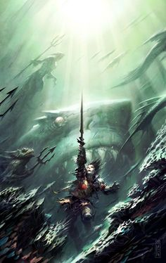 288 best raymond swanland images on pinterest fantasy creatures swordsandsorcerers threat from the sea by raymond swanland fandeluxe Choice Image