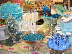 something blue: bridal shower