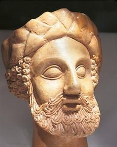 Phoenician civilization – 5th century BC Figure of a bearded man, Cagliari, Sardinia - Click on the images to visit the Historyteller website.