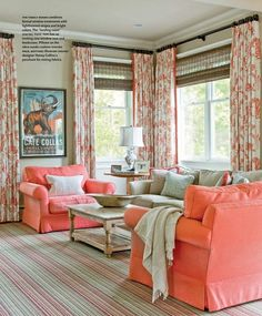 Coral - THIS color for the sofa