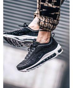 Mens Nike Air Max 97 Lx Swarovski Crystal Trainer Air Max 97, Barato Nike Air Max, Nikes Pretos, Tênis Air Max, Tênis Nike, Tênis, Swarovski, Preto E Branco