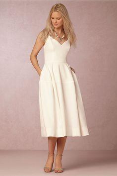 BHLDN Camilla Dress is a beautiful option for a wedding dress or a bridesmaids dress