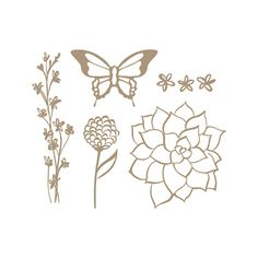 Nature's Perfection Stamp Set by Stampin' Up! Added as an additional option for March 2015 during Sale-A-Bration. #139100. Free with $50 purchase. I own it.