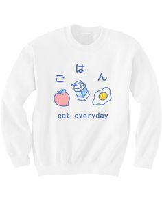 Eat Breakfast Sweater http://shop.inu-inu.co/EatBreakfastSweater #kawaii #cute…