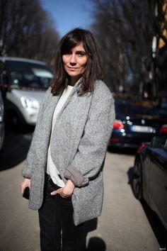 Emmanuelle Alt, Editor-in-Chief of Vogue Paris Parisienne Chic, Emmanuelle Alt Style, Tweed, Streetwear, Parisian Chic Style, French Chic, French Style, French Fashion, Style Fashion