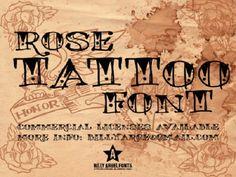 Tattoo Ideas: Wonderful Rose Tattoo Font By Billy Arge Fonts, tattoo lettering fonts, free tattoo font designs Tattoo Writing Fonts, Free Tattoo Fonts, Best Tattoo Fonts, Font Free, Small Quote Tattoos, Small Tattoos With Meaning, Cute Small Tattoos, Cool Tattoos, Diy Tattoo