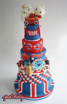 London Hello Kitty Wedding Cake - Cake by William Tan