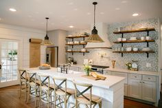 One of the reasons Chip and Joanna love flipping houses is getting to see the dramatic transformation from beginning to end. The Childers kitchen, which was once closed and cramped, is now open and inviting. #fixerupper