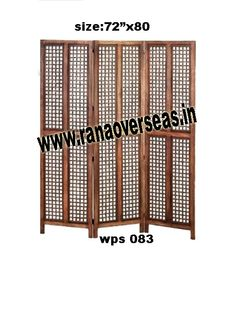 Wooden Partition Screen Wooden Partition Screen, Room dividers are often used in commercial offices or homes to seperate rooms or to block light. Wooden room divider screens are very popular.Deciding on the right wood folding screen is simply a matter of personal taste. For those that appreciate unique style folding screens,our hand carving abstract dividers may be a consideration. Developed from high quality sheesham wood and these partitions stand only in zig zag position.