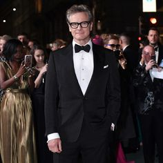 Colin Firth at the Green Carpet Fashion Awards in Milan. Colin Firth, Green Carpet, Man Up, Pride And Prejudice, Gentleman Style, Black Tie, Film Festival, Tom Ford, Style Guides