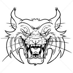 Mascot Clipart Image of A Fighting Wildcat With Muscles | Wildcat ...