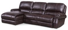 Living Room Furniture - Dartmouth 3-Piece Sectional with Left-Facing Chaise - Burgundy