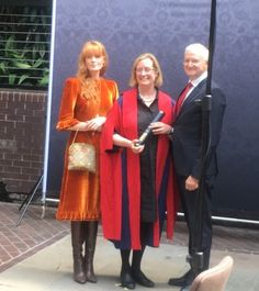 Florence at her mother's graduation
